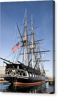 Uss Constitution Canvas Print by Tim Laman