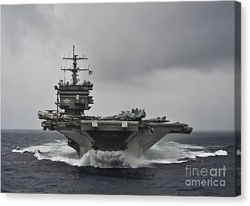 Uss Enterprise Canvas Print by Celestial Images