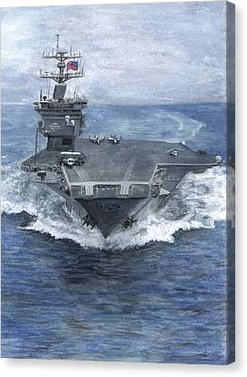 Uss Enterprise Canvas Print by Sarah Howland-Ludwig