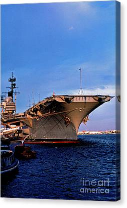 Uss Forrestal Cv-59 Canvas Print by Thomas R Fletcher