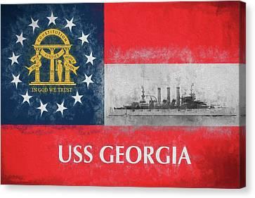 Uss Georgia Flagship Canvas Print by JC Findley