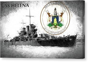 Uss Helena Canvas Print by JC Findley