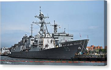 Uss James E. Williams Ddg-95 Canvas Print by Christopher Holmes
