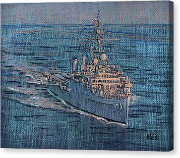 Uss Juneau Lpd 10 Canvas Print by Donald Maier