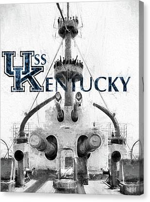 Kentucky Wildcats Canvas Print - Uss Kentucky by JC Findley