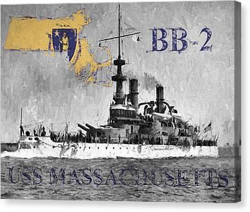 Uss Massachusetts B B-2 Canvas Print by JC Findley