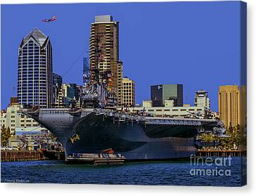 Uss Midway San Diego Ca Canvas Print by Tommy Anderson