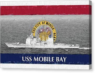 Uss Mobile Bay Canvas Print