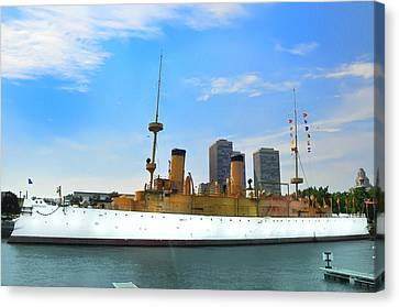 Uss Olympia Canvas Print by Bill Cannon