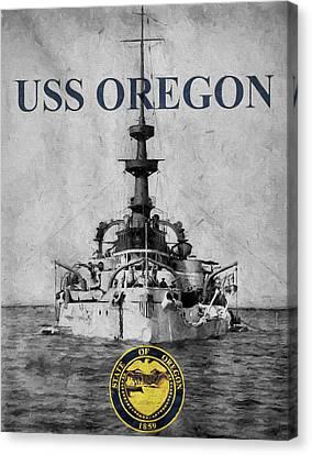 Uss Oregon Canvas Print by JC Findley