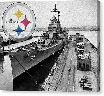 Uss Pittsburgh  Canvas Print by JC Findley