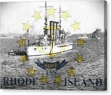 Uss Rhode Island Canvas Print by JC Findley