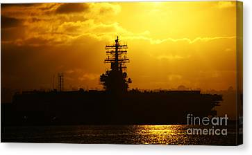 Uss Ronald Reagan Canvas Print by Linda Shafer