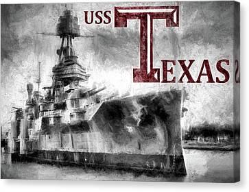 Uss Texas Aggie Style Canvas Print