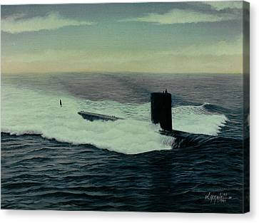 Uss Topeka Canvas Print by William H RaVell III