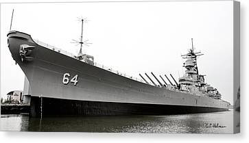 Uss Wisconsin - Port-side Canvas Print by Christopher Holmes