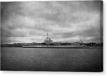 Canvas Print featuring the photograph Uss Yorktown by Sandy Keeton