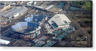 Usta Billie Jean King National Tennis Center And Arthur Ashe Stadium Aerial Photo Canvas Print by David Oppenheimer