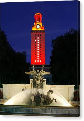 Ut Austin Tower Orange Canvas Print
