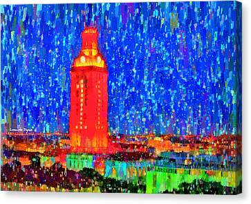 Ut Austin Tower - Pa Canvas Print by Leonardo Digenio