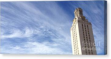 Ut Tower Clouds Canvas Print