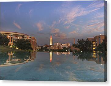 Ut Tower Reflection 1 Canvas Print