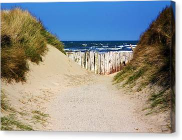 Ally Canvas Print - Utah Beach Normandy France by Susie Weaver