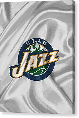 Utah Jazz Canvas Print by Afterdarkness
