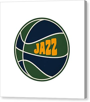 Utah Jazz Retro Shirt Canvas Print by Joe Hamilton