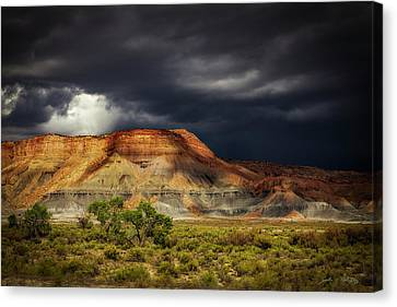 Utah Mountain With Storm Clouds Canvas Print