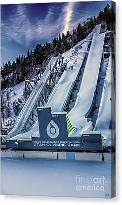 Utah Olympic Park Canvas Print by David Millenheft