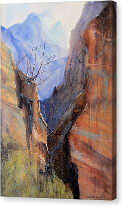 Utah Red Rocks Canvas Print by Sandra Strohschein