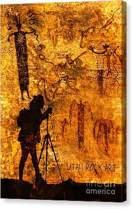 Utah Rock Art Montage Canvas Print
