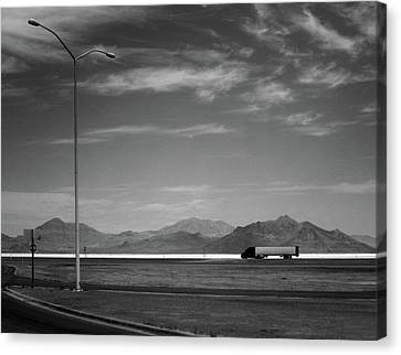 Canvas Print featuring the photograph Utah Salt Flats by Art Shimamura