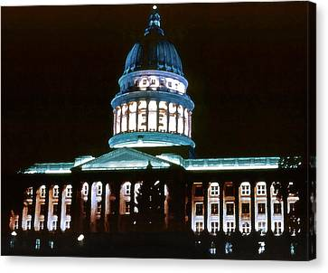 Utah State Capitol Canvas Print by Steve Ohlsen
