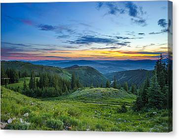Utah Sunrise Above Park City Canvas Print by James Udall