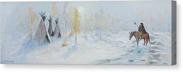 Ute Winter Camp Canvas Print by Jerry McElroy