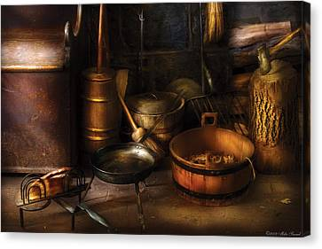 Utensils - Colonial Utensils Canvas Print by Mike Savad