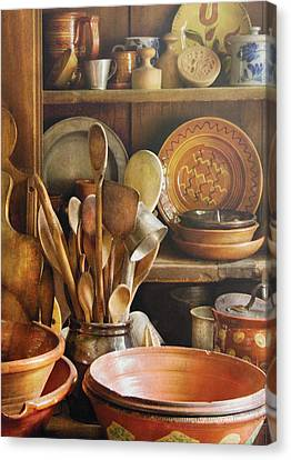 Utensils - Remembering Momma Canvas Print by Mike Savad