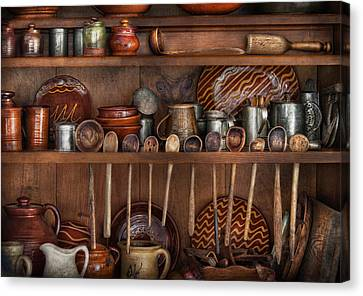 Utensils - What I Found In A Cabinet Canvas Print by Mike Savad