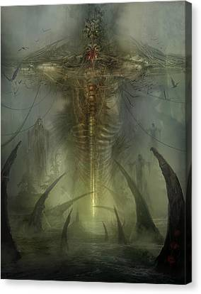 Utherworlds Lake Odium Canvas Print by Philip Straub