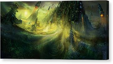 Utherworlds Monolith Canvas Print by Philip Straub