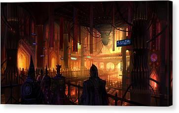 Utherworlds The Gathering Canvas Print by Philip Straub
