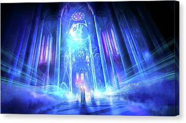 Religious Canvas Print - Utherworlds The Language Of Truth by Philip Straub