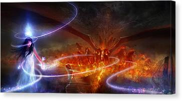 Utherworlds Waking Dream Canvas Print by Philip Straub