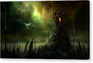 Utherworlds Where Fears Roam Canvas Print by Philip Straub
