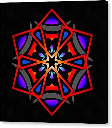 Canvas Print featuring the digital art Utron Star by Derek Gedney