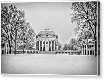 Canvas Print featuring the photograph Uva Rotunda Winter 2016 by Kevin Blackburn