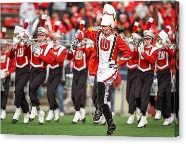 Uw Drum Major Canvas Print by Todd Klassy