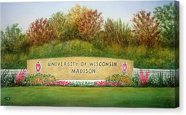Canvas Print featuring the painting Uw Roundabout by Thomas Kuchenbecker